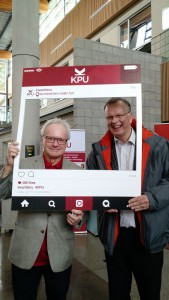 Bruce Ralston, MLA Surrey-Whalley with Dr. Alan Davis, President and Vice-Chancellor of Kwantlen Polytechnic University